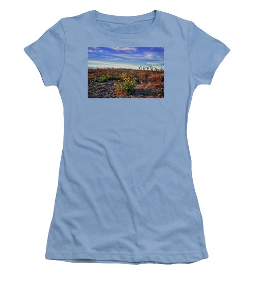 Women's T-Shirt (Junior Cut) featuring the photograph Meadow Of Wild Flowers by Eti Reid