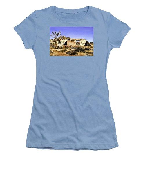 Women's T-Shirt (Junior Cut) featuring the painting Memory by Muhie Kanawati