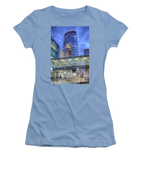 Minneapolis Skyline Photography Nicollet Mall Winter Evening Women's T-Shirt (Athletic Fit)