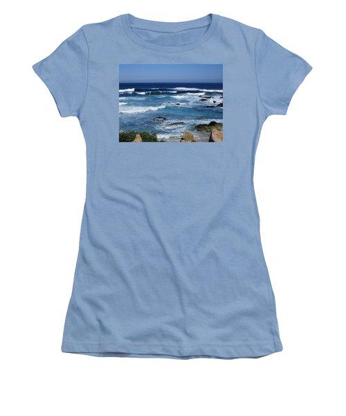 Women's T-Shirt (Junior Cut) featuring the photograph Monterey-9 by Dean Ferreira
