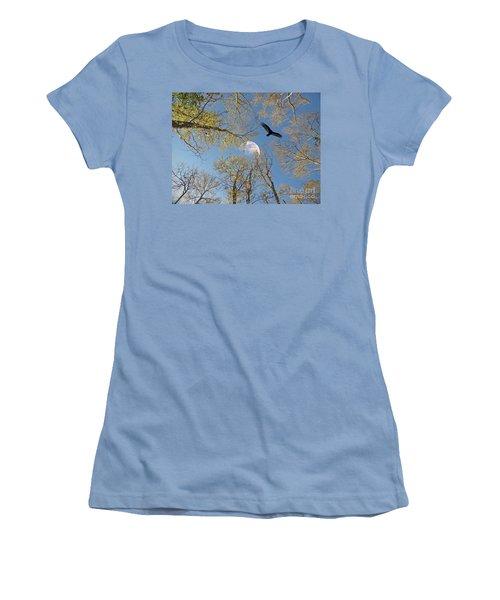 Women's T-Shirt (Junior Cut) featuring the photograph Moon Trees by Savannah Gibbs