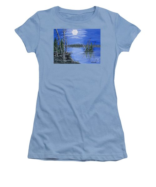 Moonlight Mist Women's T-Shirt (Junior Cut) by Brenda Brown