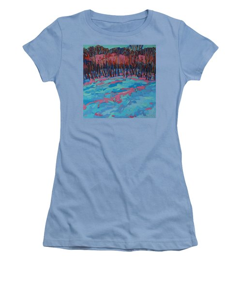 Morning Forest Women's T-Shirt (Junior Cut) by Phil Chadwick