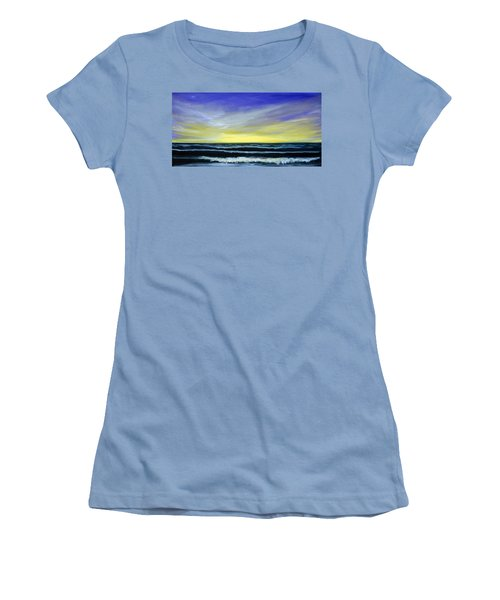 Morning Star And The Sea Oceanscape Women's T-Shirt (Athletic Fit)