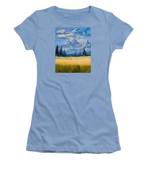 Mountain Valley Women's T-Shirt (Junior Cut) by Richard Faulkner