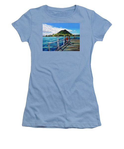 Mt Maunganui Pier 140114 Women's T-Shirt (Junior Cut) by Selena Boron