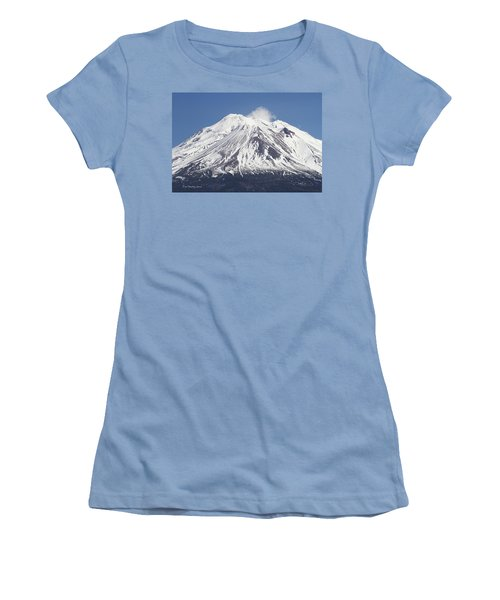Mt Shasta California Women's T-Shirt (Athletic Fit)