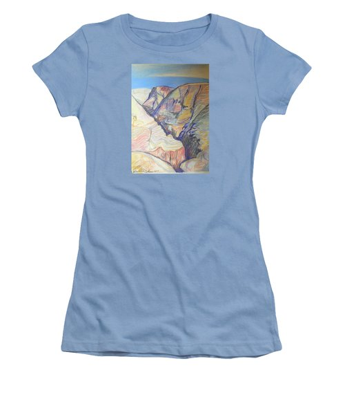 Nachal Darga Canyon Women's T-Shirt (Junior Cut) by Esther Newman-Cohen