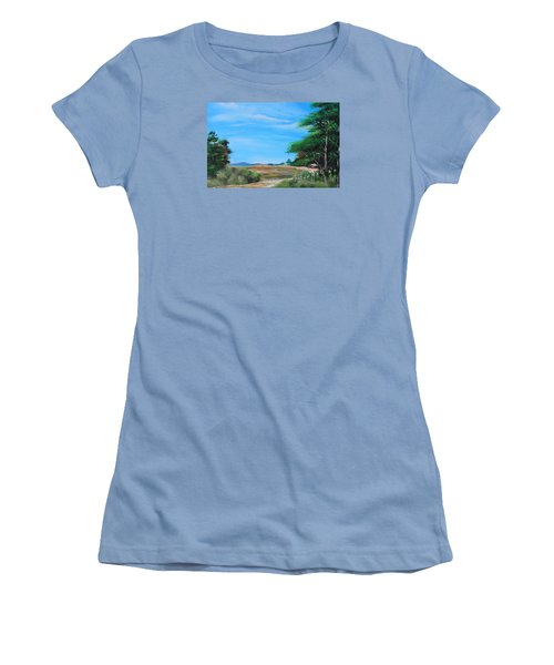 Nipa Hut In The Barrio Women's T-Shirt (Athletic Fit)
