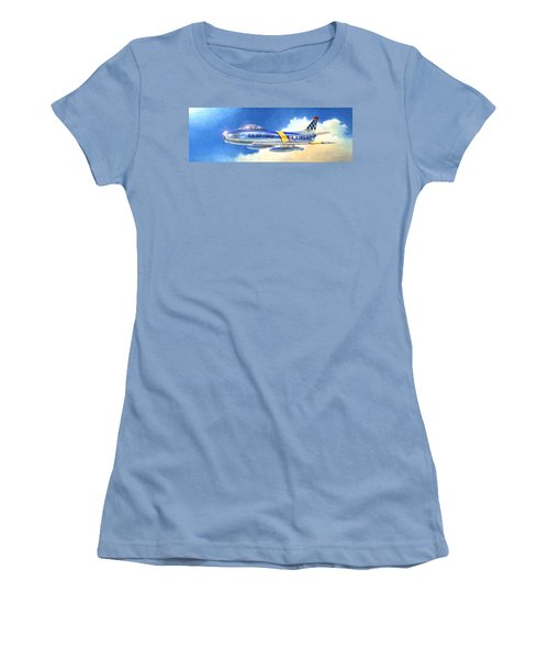 North American F-86f Sabre Women's T-Shirt (Athletic Fit)