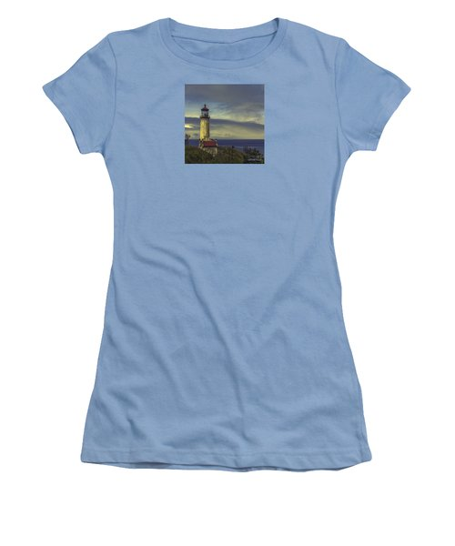 North Head Lighthouse Women's T-Shirt (Junior Cut) by Jean OKeeffe Macro Abundance Art