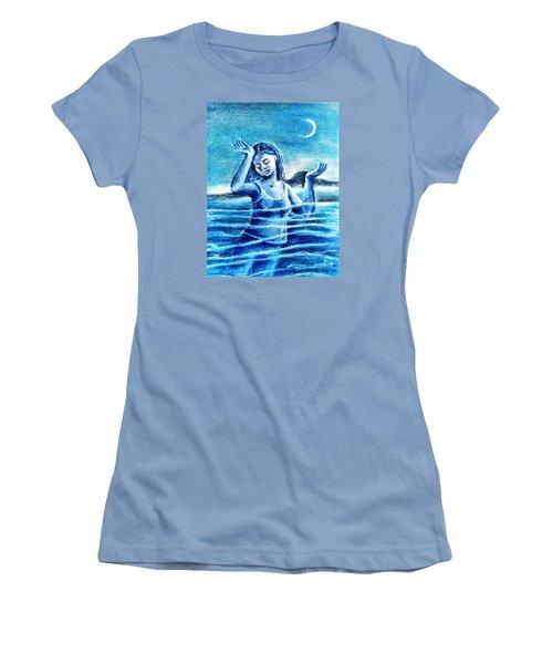 Not Waving But Drowning Women's T-Shirt (Junior Cut) by Trudi Doyle