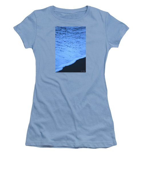 Ocean Blues Women's T-Shirt (Junior Cut) by Amy Gallagher