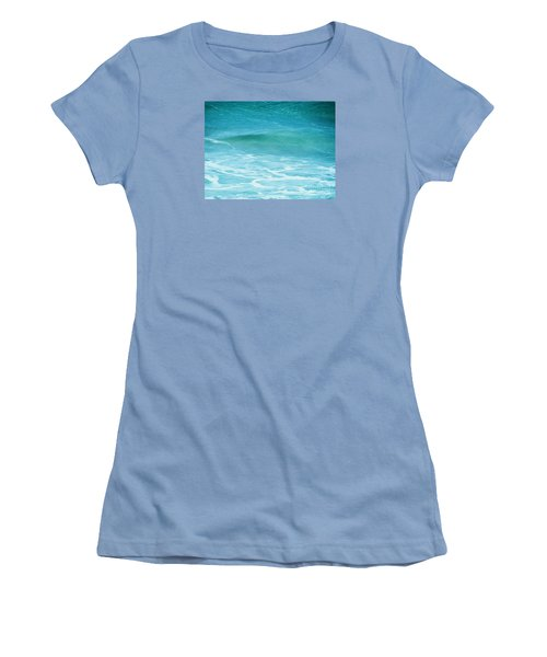 Women's T-Shirt (Junior Cut) featuring the photograph Ocean Lullaby by Roselynne Broussard