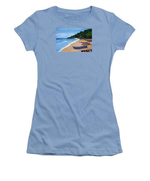 Olas De Crashboat Women's T-Shirt (Junior Cut) by Luis F Rodriguez