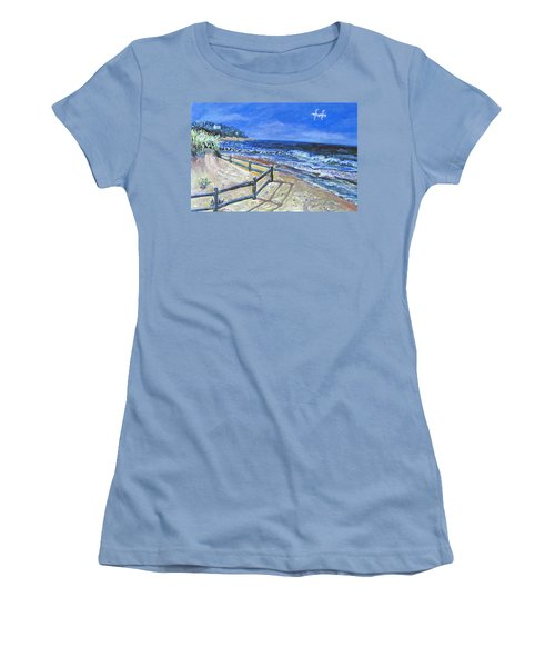 Old Silver Beach Women's T-Shirt (Junior Cut) by Rita Brown