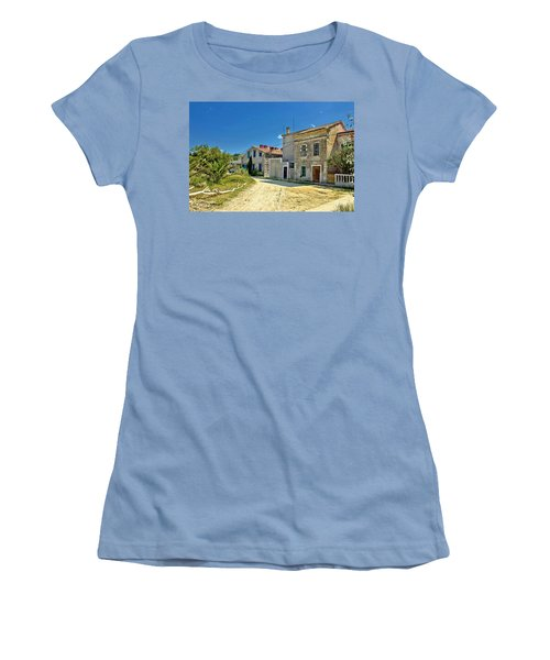 Old Streets Of Susak Island Women's T-Shirt (Athletic Fit)