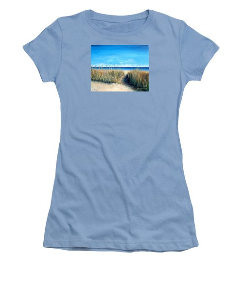 Open Invitation Women's T-Shirt (Junior Cut) by Laurie Morgan