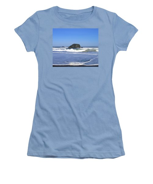 Women's T-Shirt (Athletic Fit) featuring the photograph Oregon Coast Seascape by Will Borden