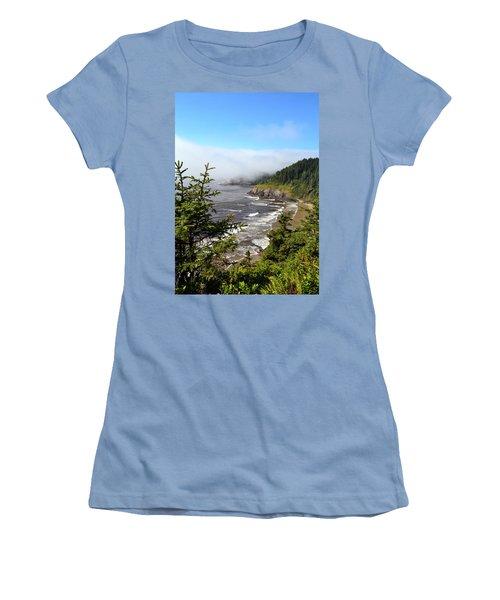 Oregon Coastline Women's T-Shirt (Athletic Fit)