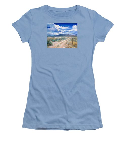 Osceola Nevada Ghost Town Women's T-Shirt (Junior Cut) by Donna Tucker