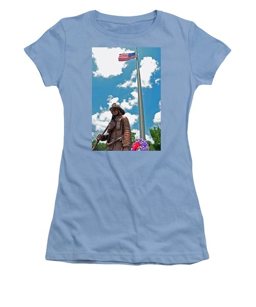 Women's T-Shirt (Junior Cut) featuring the photograph Our Heroes by Charlotte Schafer