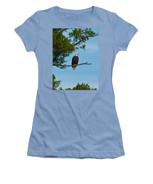 Women's T-Shirt (Junior Cut) featuring the photograph Out On A Limb by Brenda Jacobs
