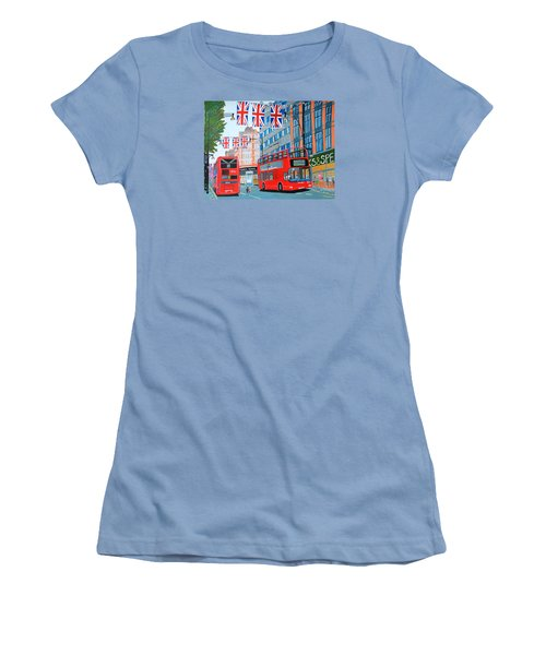 Oxford Street- Queen's Diamond Jubilee  Women's T-Shirt (Junior Cut) by Magdalena Frohnsdorff