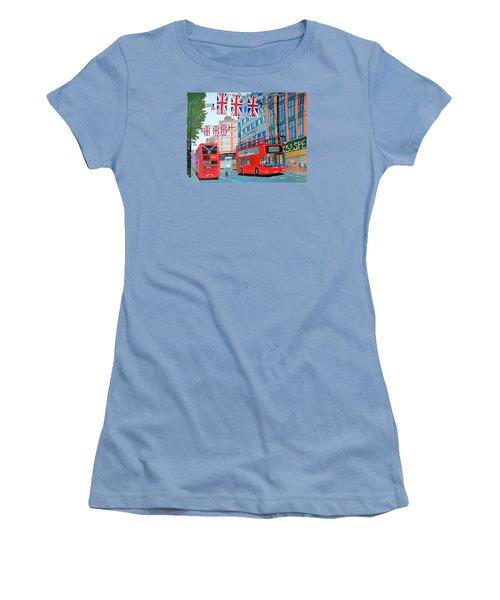 Oxford Street- Queen's Diamond Jubilee  Women's T-Shirt (Athletic Fit)