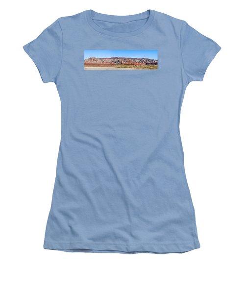 Women's T-Shirt (Junior Cut) featuring the photograph Painted Desert Mountain by Daniel Hebard