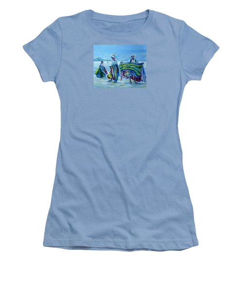 Panama.beach Market Women's T-Shirt (Junior Cut) by Anna  Duyunova