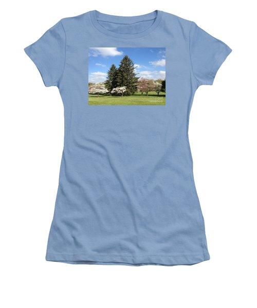 Women's T-Shirt (Junior Cut) featuring the photograph Cedar Beach Park  by Jeannie Rhode