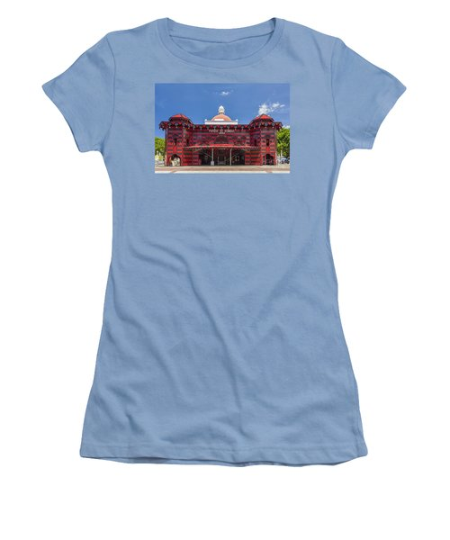 Parque De Bombas Fire Station In Ponce Puerto Rico Women's T-Shirt (Athletic Fit)