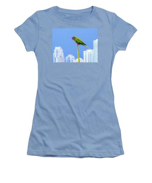 Parrot Women's T-Shirt (Junior Cut) by J Anthony