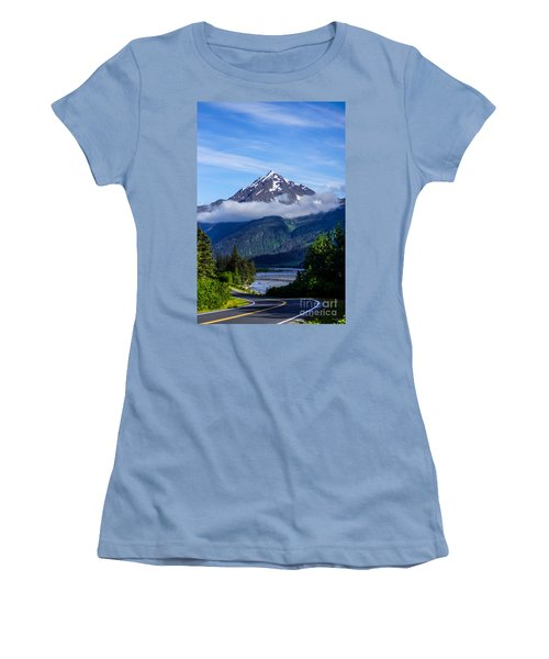 Path Through Alaska Women's T-Shirt (Athletic Fit)