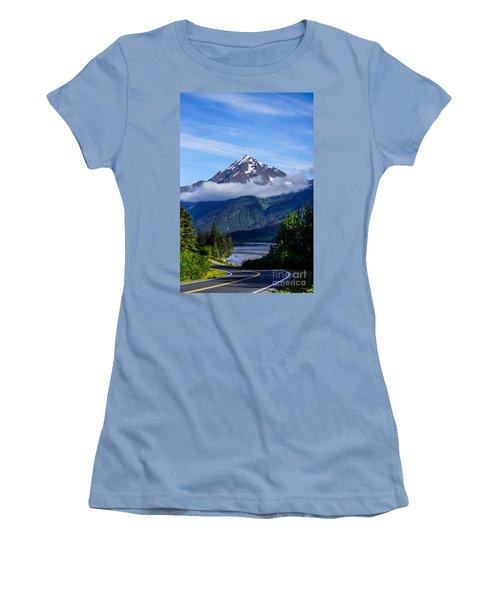 Path Through Alaska Women's T-Shirt (Athletic Fit)
