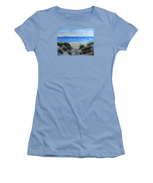 Path Through The Sand Dunes Women's T-Shirt (Junior Cut) by Pamela  Meredith