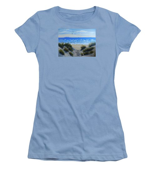Path Through The Sand Dunes Women's T-Shirt (Athletic Fit)