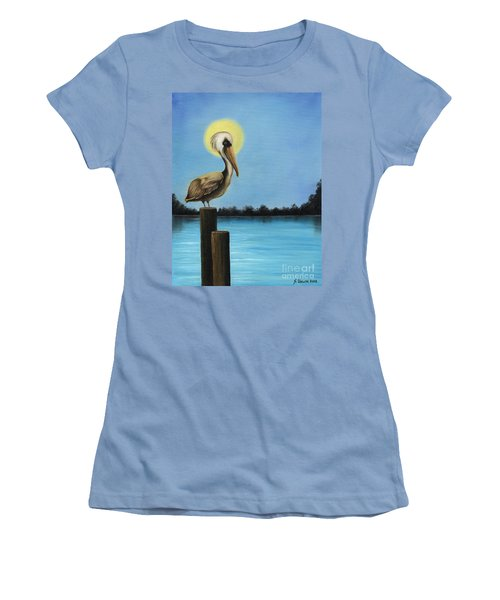 Patiently Fishing Women's T-Shirt (Athletic Fit)
