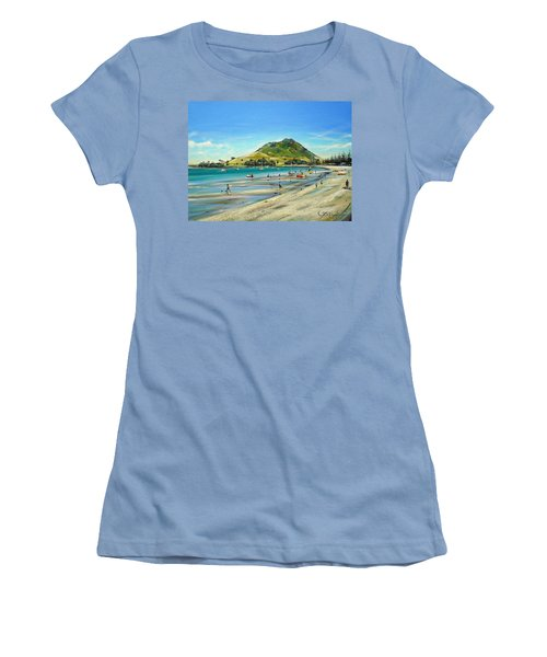 Women's T-Shirt (Junior Cut) featuring the painting Pilot Bay Mt M 050110 by Sylvia Kula