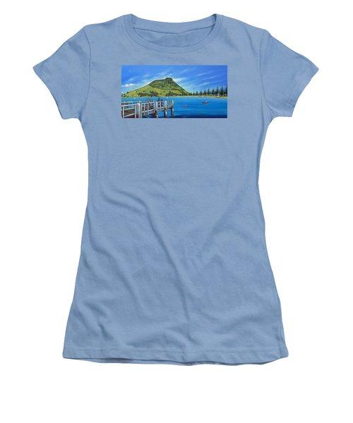 Pilot Bay Mt Maunganui 201214 Women's T-Shirt (Junior Cut) by Selena Boron