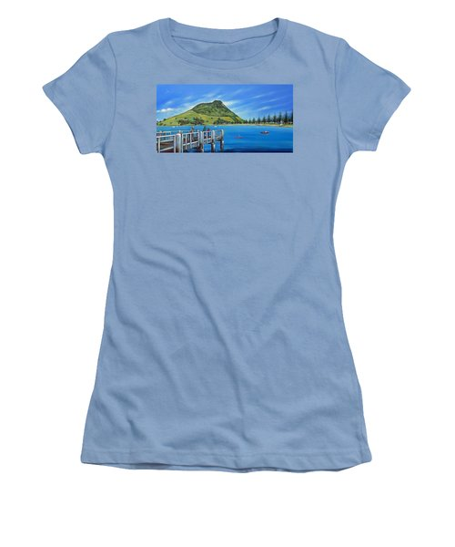 Pilot Bay Mt Maunganui 201214 Women's T-Shirt (Junior Cut) by Selena Boron