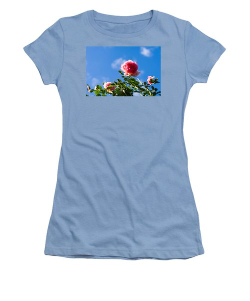 Pink Roses - Featured 3 Women's T-Shirt (Junior Cut) by Alexander Senin