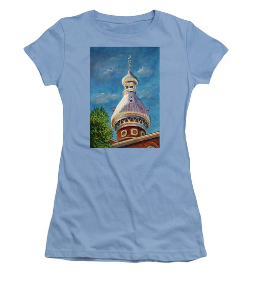 Play Of Light - University Of Tampa Women's T-Shirt (Junior Cut) by Roxanne Tobaison