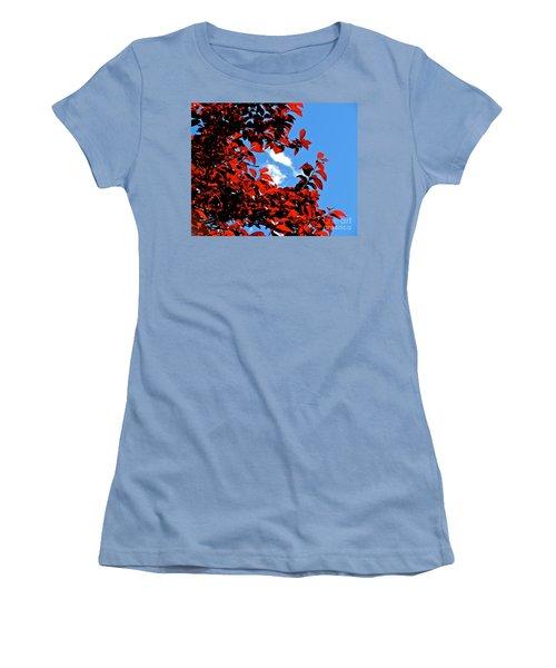 Plum Tree Cloudy Blue Sky 1 Women's T-Shirt (Junior Cut) by CML Brown