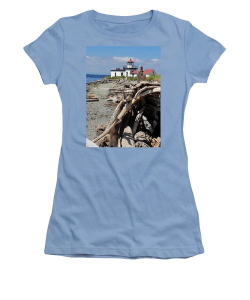 Women's T-Shirt (Junior Cut) featuring the photograph Point In View by Natalie Ortiz