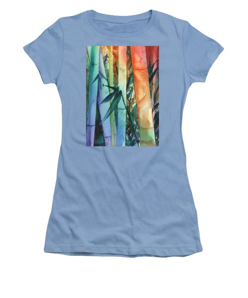 Rainbow Bamboo 2 Women's T-Shirt (Junior Cut) by Marionette Taboniar