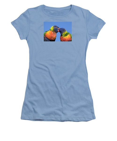 Rainbow Lorikeets Women's T-Shirt (Athletic Fit)