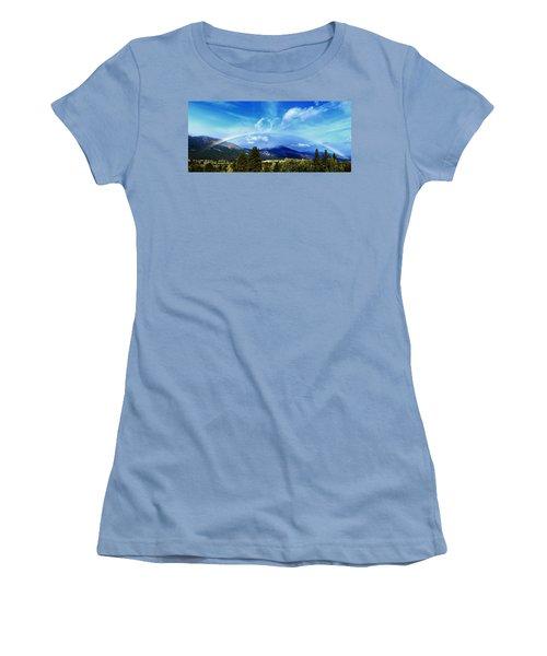 Rainbow Over Hamilton Montana Women's T-Shirt (Athletic Fit)