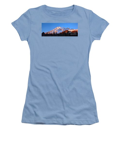 Rainier Sunset Women's T-Shirt (Athletic Fit)
